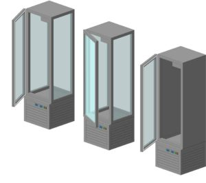 Шкафы со стеклянными дверками